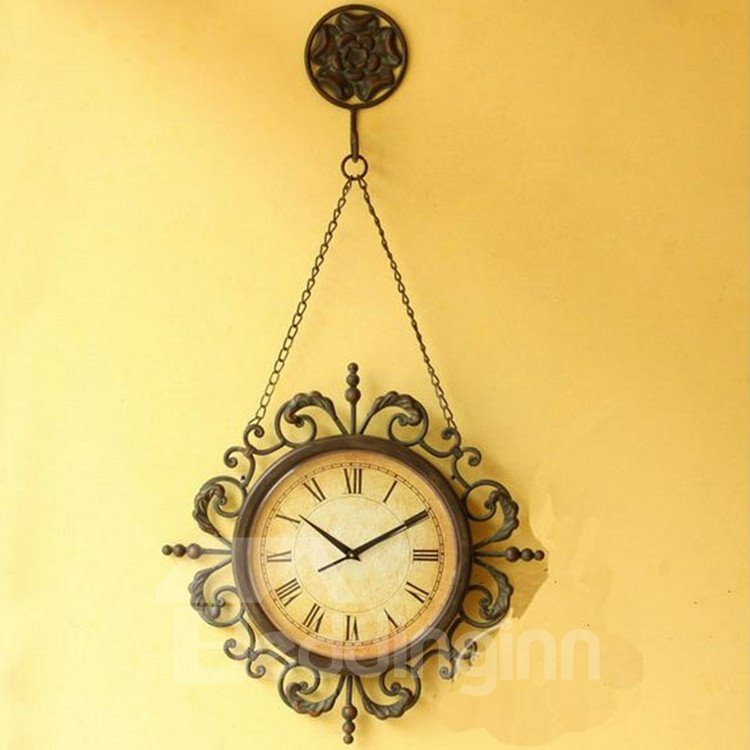 Amazing Creative European Retro Pastoral Wall Clock