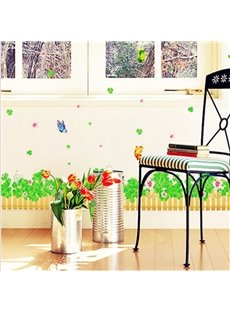 New Arrival Beautiful Butterflies and Clover Peacock Wall Stickers