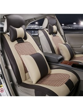 Classic Brown Business Design Durable Leather Material Universal Car Seat Covers