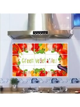 New Arrival Various Green Vegetables Kitchen Hearth Removable Wall Stickers