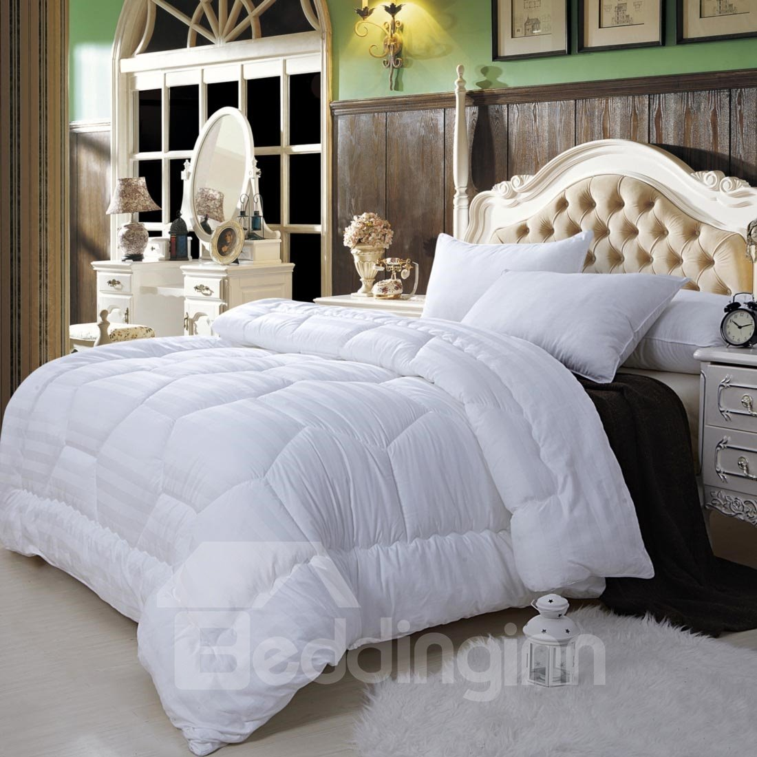 Super Soft White Twin 100% Cotton Down Filled Comforter W59 x L78