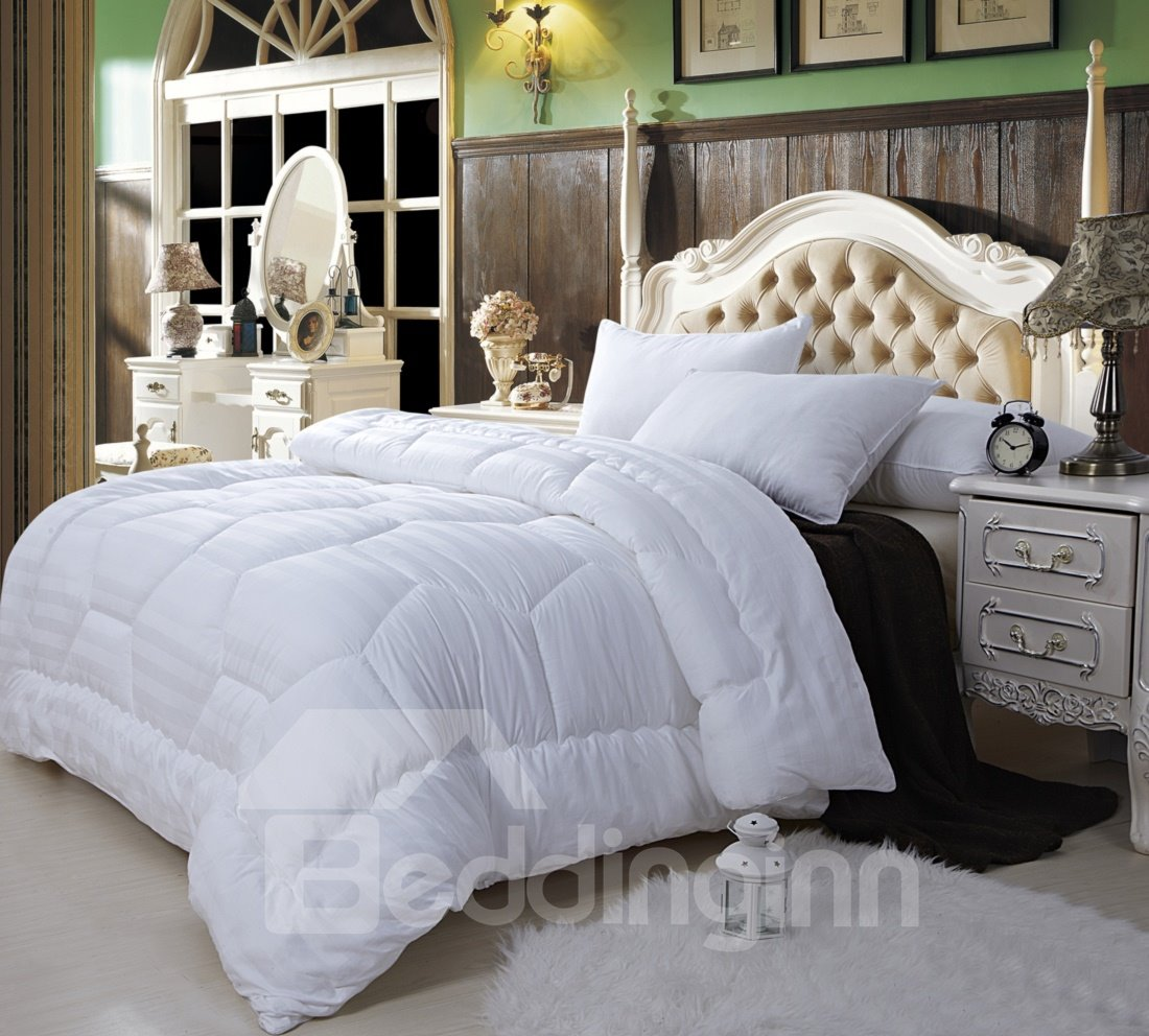 Super Soft White Full 100% Cotton Down Filled Comforter W78 x L90