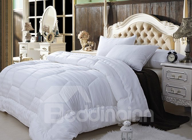 Super Soft White Queen 100 Cotton Down Filled Comforter