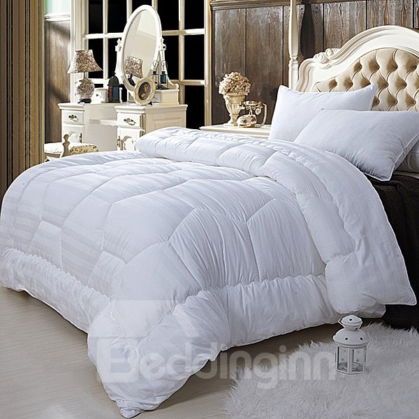 Super Soft White California King 100% Cotton Filled Comforter W92 x L106