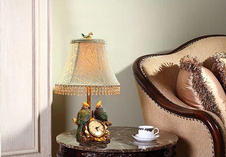 Elegant and Stylish Bird Design Resin Table Lamp