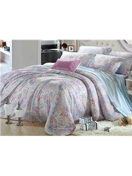 High Quality  Elegant Patterns 4 Pieces Tencel Bedding Sets