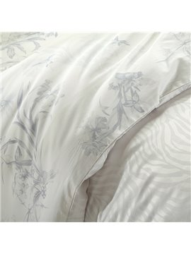 High Quality Fantastic White Color Print 4 Pieces Summer Bedding Sets