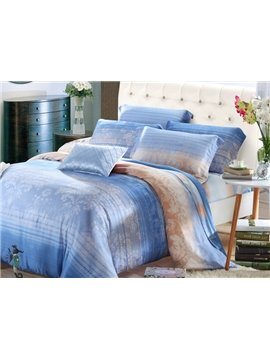 High Quality Elegant Pastoral Floral 4 Pieces Tencel Bedding Sets