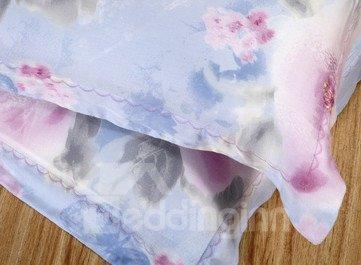 High Quality Glamorous Pastoral Floral Tencel Bedding Sets