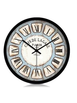 European Style Retro Roman Numerals Metal Wall Clock