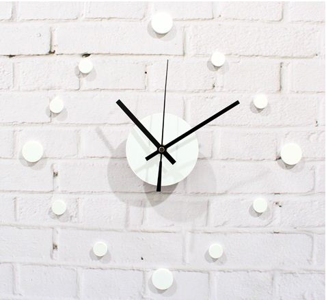 Simple Style DTY Round Dots Wall Clock