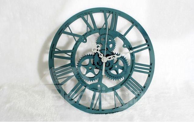 European Style Retro Antique Gear Wall Clock