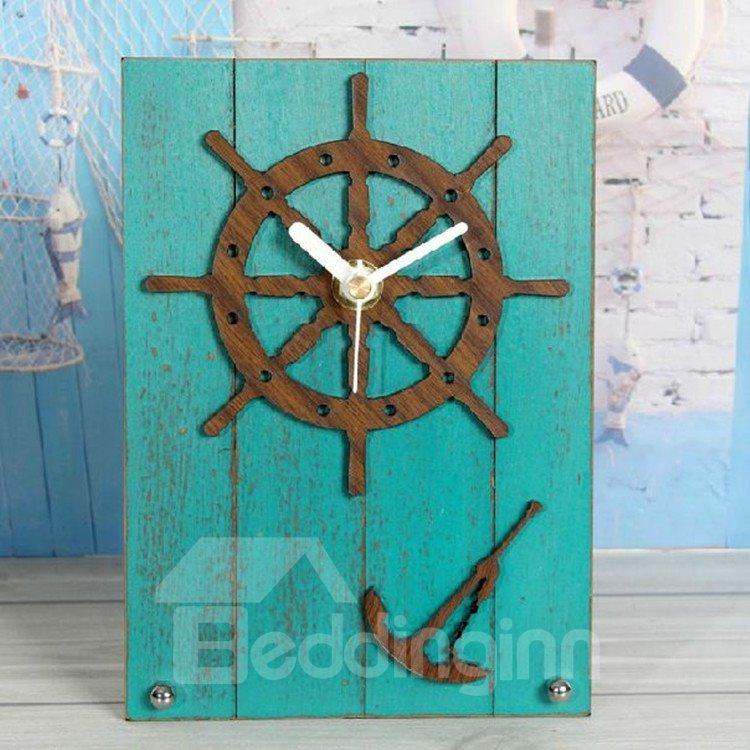 European Style Retro Antique Helm Table Clock