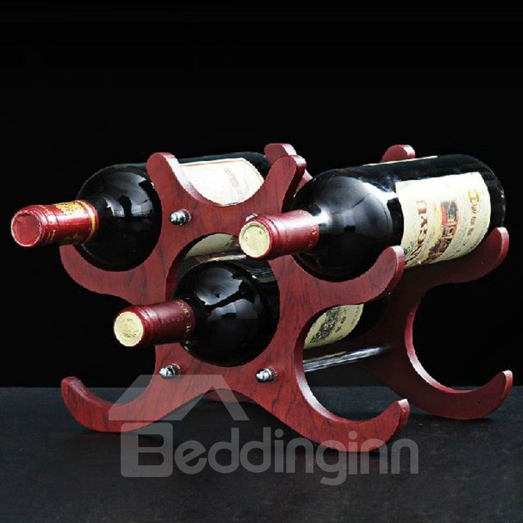 High Quality Amazing Mahogany Wooden Red Wine Rack