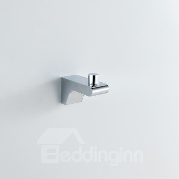 Chrome Finish Contemporary Style Brass Robe Hooks