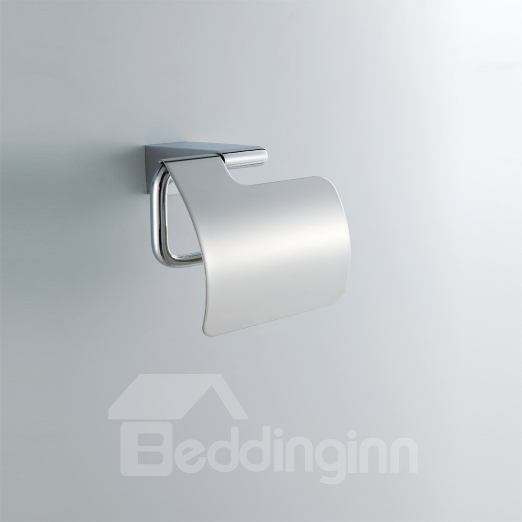 Chrome Finish Contemporary Style Brass Toilet Roll Holders