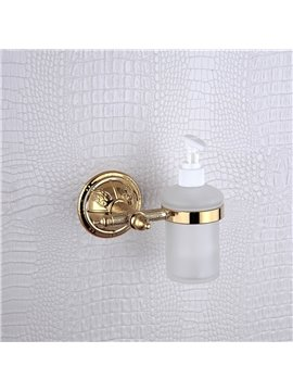 Liquid soap dispenser rack,Brass,Golden finish