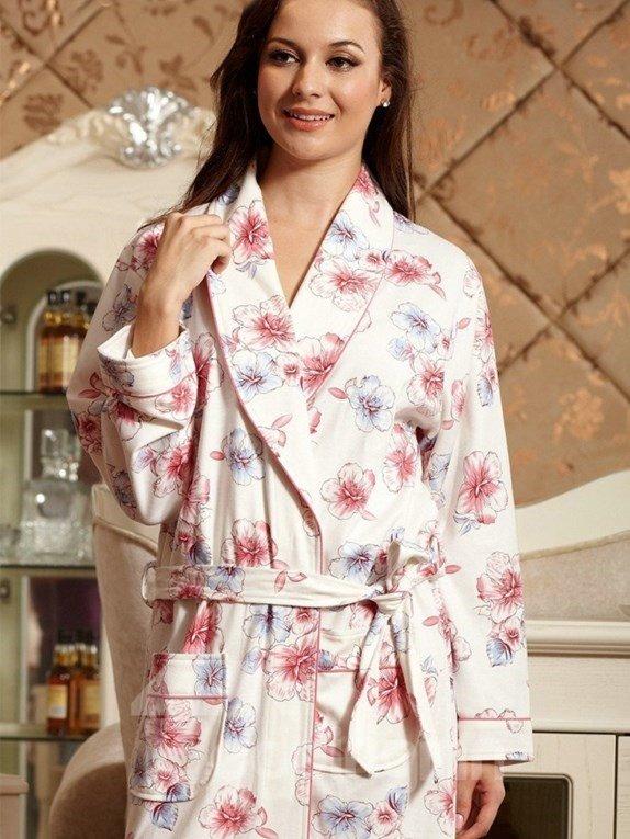 New Arrival Fancy Blooming Flowers Print Cotton Loungewear