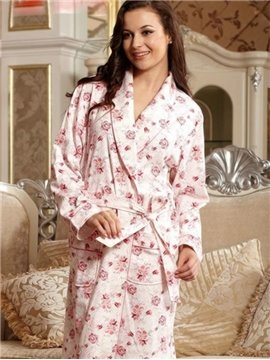Top Selling Fancy Blooming Flowers Print Full Cotton Loungewear