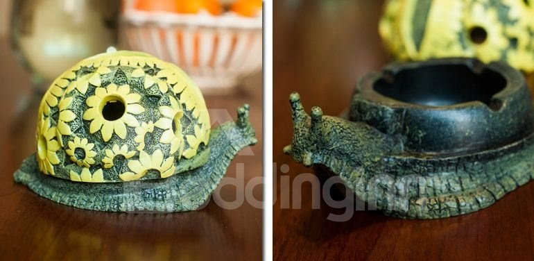High Quality Fashionable Creative Snail Shape Resin Ashtray