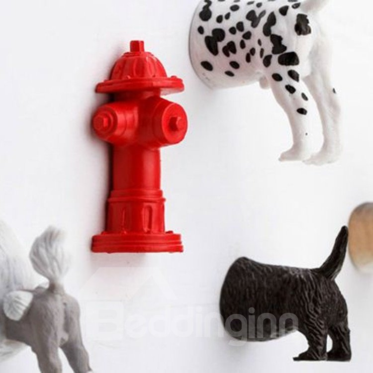 Amazing Stylish Cute Creative 6 Pieces Plastic Dog Hips Fridge Magnet