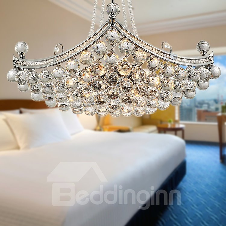 Modern Luxury Delicate Crystal 6 Lights Pendant