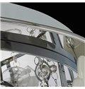 Elegant Round Shape Floral Crystal 8 Lights Flush Mount