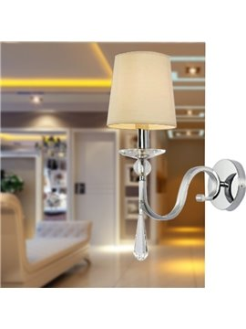 Fantastic Modern Style Fabric Shade Crystal Wall Light