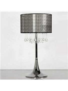 Elegant Glass Water Drops Fabric Shade Lamp