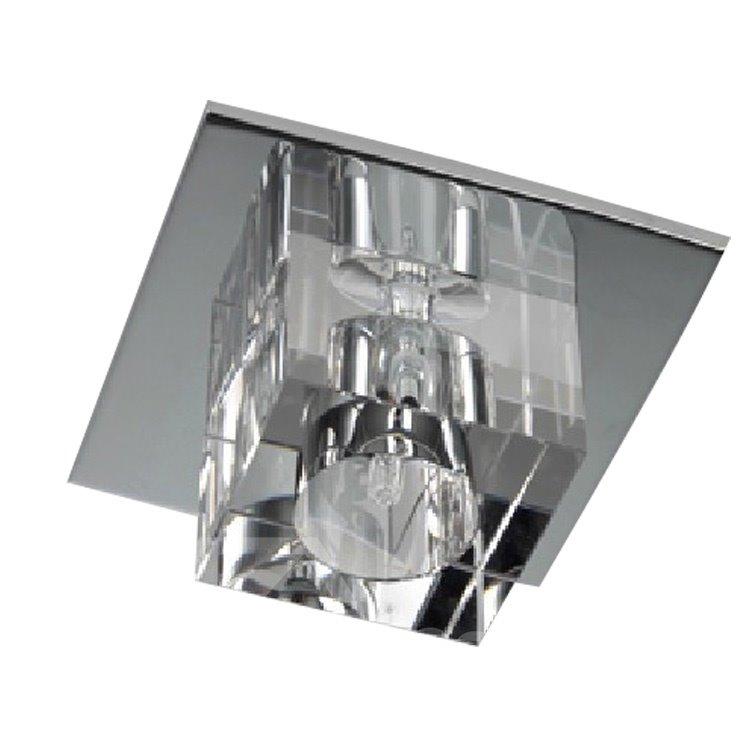 Simple Style Crystal 1 Light Flush Mount