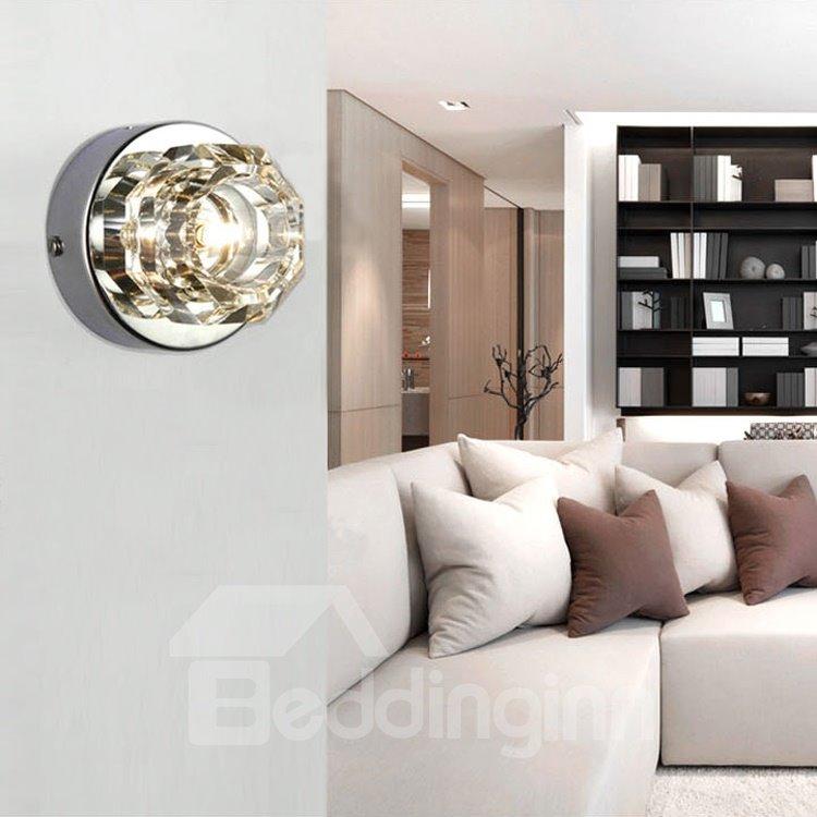 Modern Elegant Wall Decor : Elegant modern style metal crystal wall light beddinginn