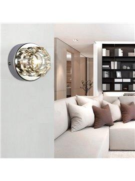 Elegant Modern Style Metal Crystal Wall Light