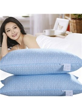 New Arrival Delicate Blue Polka Dot Soybean Fiber Pillow