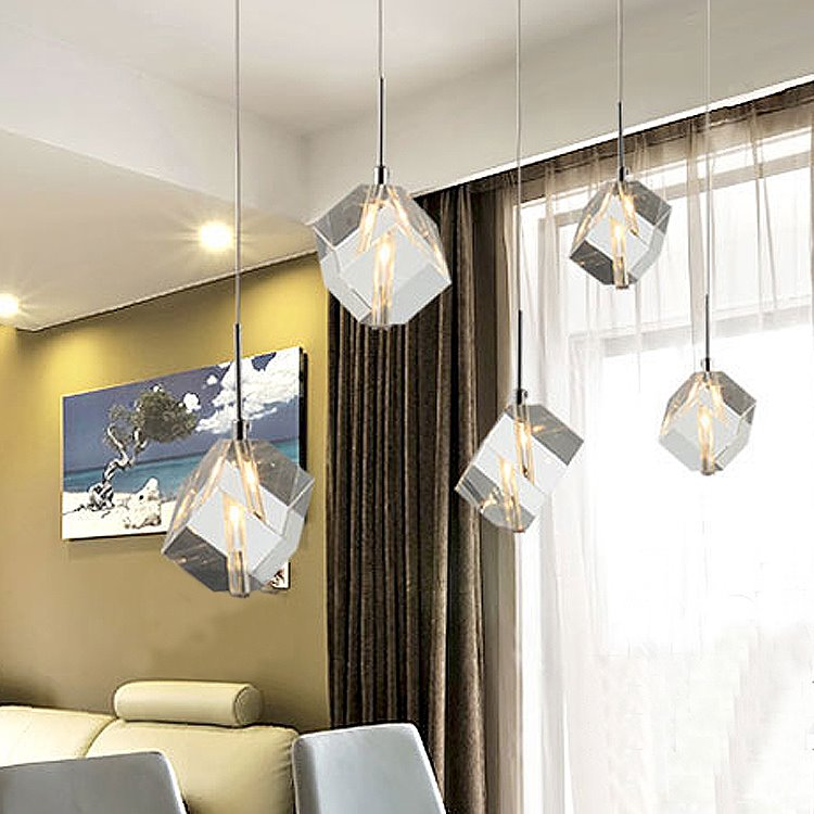 Elegant Glass Electroplated Finish Shade 5 Lights Pendant Light
