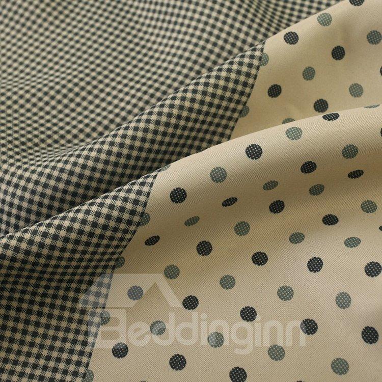 Elegant Modern Style Green Printing Grommet Top Custom Curtain