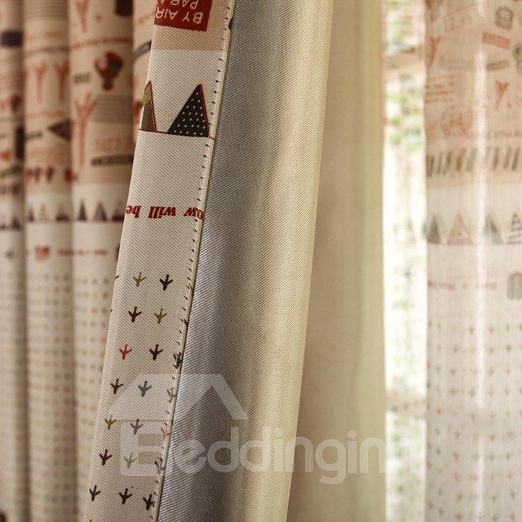 Modern Decoration Unique Patterns Grommet Top Curtain