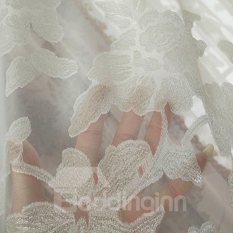 Amazing Pink Floral Patterns Design Grommet Top Custom Curtain