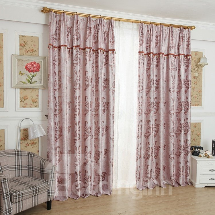 Amazing Pink Beautiful Patterns Design Grommet Top Custom Curtain 10951955