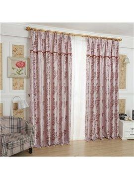 Amazing Pink Beautiful Patterns Design Grommet Top Custom Curtain
