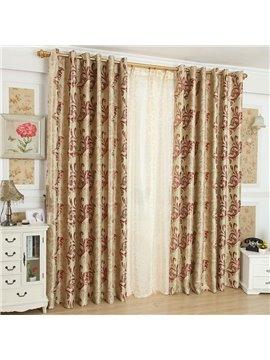 Amazing Golden Coffee Beautiful Patterns Design Grommet Top Custom Curtain