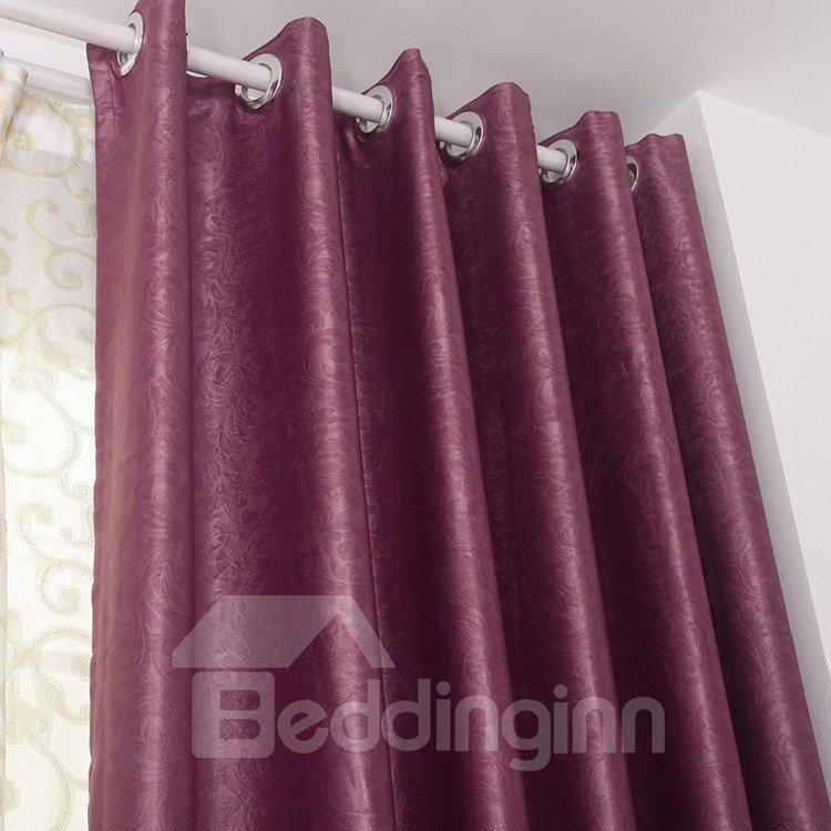 High Quality Elegant Burgundy Grommet Top Custom Curtain