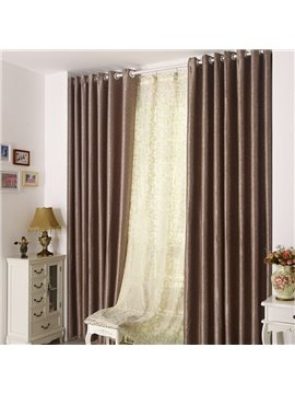 High Quality Elegant Coffee Grommet Top Custom Curtain