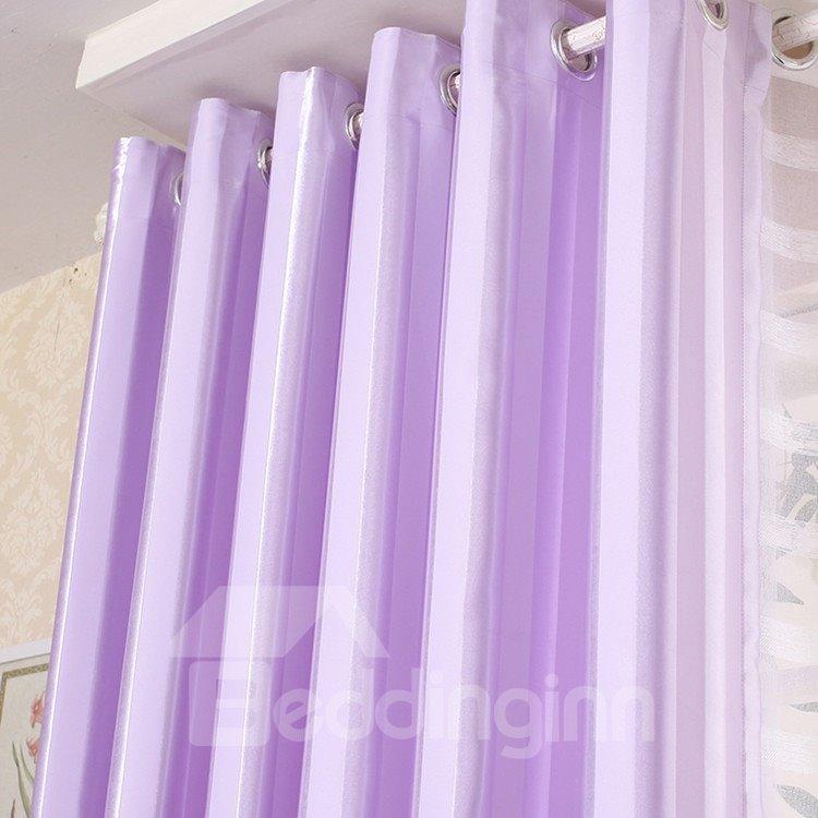 Shining Purple Color Grommet Top Custom Curtain