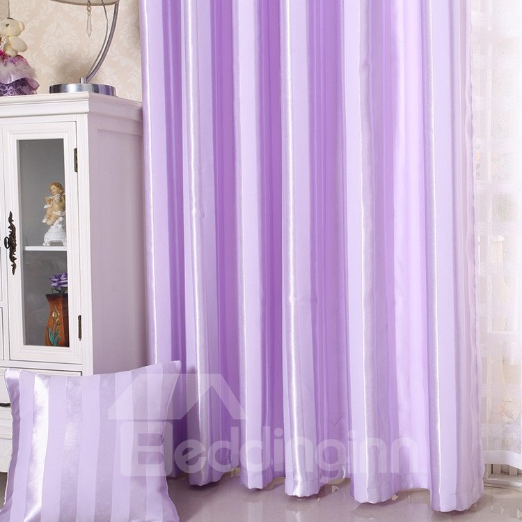 Shining Purple Color Grommet Top Custom Curtain