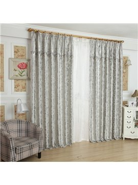 Modern Home Fashion Botanical Print Grommet Top Curtain