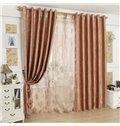 High Quality Beautiful Patterns Grommet Top Custom Curtain