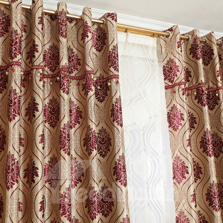 Fantastic Contemporary Elegant Patterns Grommet Top Custom Curtain