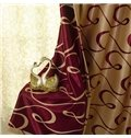 Fantastic Contemporary Beautiful Curve Patterns Grommet Top Custom Curtain