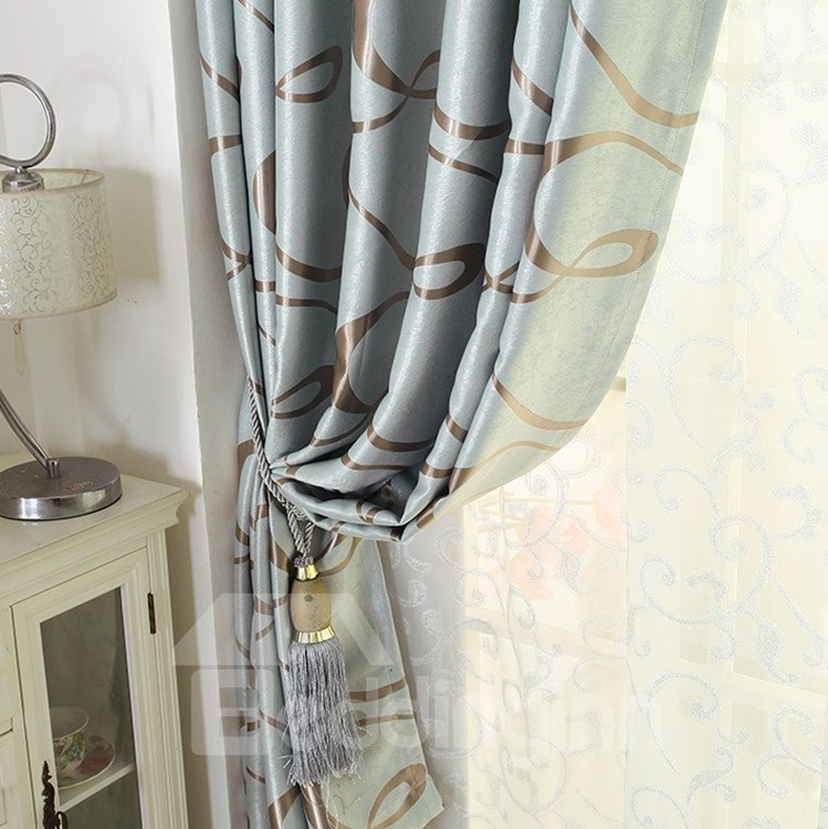 Amazing Contemporary Beautiful Pattern Grommet Top Custom Curtain