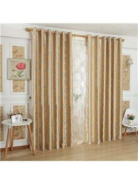 Contemporary Amazing Pattern Grommet Top Custom Curtain